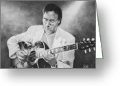 Piazzolla Greeting Cards - Al Di Meola Greeting Card by Ryan Hill