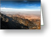 Arabia Greeting Cards - Al Hada Road in Taif Greeting Card by Graham Taylor