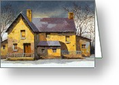House Tapestries Textiles Greeting Cards - Al Mattino Greeting Card by Guido Borelli