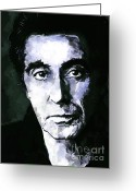New York Film Greeting Cards - Al Pacino  Greeting Card by Andrzej  Szczerski