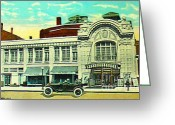 Baraboo Greeting Cards - Al Ringling Vaudeville Theatre In Baraboo Wi In 1920 Greeting Card by Dwight Goss