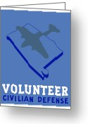 Second Greeting Cards - Alabama Civilian Defense WPA Greeting Card by War Is Hell Store