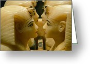 Antiquities And Artifacts Greeting Cards - Alabaster Carvings Found In The Tomb Greeting Card by Kenneth Garrett