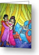 Aladdin Greeting Cards - Aladdin Greeting Card by Indu Raghavan