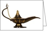 Aladdin Greeting Cards - Aladdin Oil Lamp Greeting Card by Olivier Le Queinec
