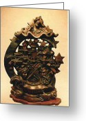 Lovely Sculpture Greeting Cards - Aladins Lamp Greeting Card by Larkin Chollar