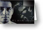 Sports Art Photo Greeting Cards - Alain Hernandez Mixed Martial Artist Greeting Card by Lisa Knechtel