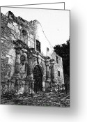 Alamo Greeting Cards - Alamo In Sunset Greeting Card by James Granberry
