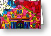 Alamo Greeting Cards - Alamo Mosaic Two Greeting Card by Patti Schermerhorn