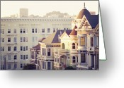 Roof Greeting Cards - Alamo Square, San Francisco Greeting Card by Image - Natasha Maiolo