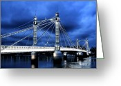 Albert Greeting Cards - Albert bridge London Greeting Card by Jasna Buncic