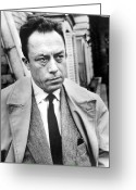 Prize Greeting Cards - Albert Camus (1913-1960) Greeting Card by Granger