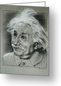 Prize Greeting Cards - Albert Einstein Greeting Card by Anastasis  Anastasi