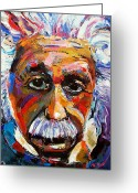 Albert Einstein Greeting Cards - Albert Einstein genius Greeting Card by Debra Hurd