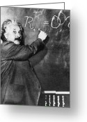 Albert Einstein Greeting Cards - Albert Einstein Greeting Card by Photo Researchers