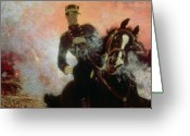 Fighting Painting Greeting Cards - Albert I King of the Belgians in the First World War Greeting Card by Ilya Efimovich Repin