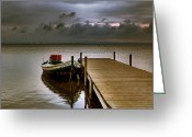 Flooded Greeting Cards - Albufera before the rain. Valencia. Spain Greeting Card by Juan Carlos Ferro Duque