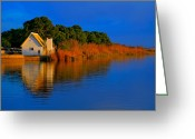 Growing Water Greeting Cards - Albufera blue. Valencia. Spain Greeting Card by Juan Carlos Ferro Duque