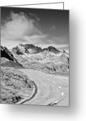 Marking Photo Greeting Cards - Albula Pass Road Greeting Card by daitoZen