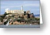 Nautical Vessel Greeting Cards - Alcatraz Island Greeting Card by Luiz Felipe Castro