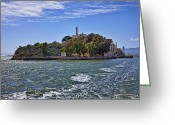 Criminals Greeting Cards - Alcatraz Island San Francisco Greeting Card by Garry Gay