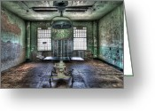 Alcatraz Greeting Cards - Alcatraz Operating Room Greeting Card by Mike  Wilson