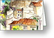 Esquisse Greeting Cards - Alcoutim in Portugal 04 Greeting Card by Miki De Goodaboom