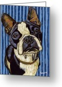 David Kent Collections Greeting Cards - Aldo in Blue Greeting Card by David  Hearn