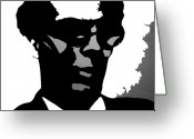 Adam Gabriel Winnie Greeting Cards - Aldous Huxley Greeting Card by Adam Winnie