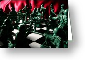 Chess Pieces Greeting Cards - Alekhines Gun Greeting Card by Lon Casler Bixby