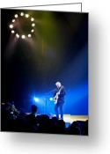 Player Photo Greeting Cards - Alex Lifeson Greeting Card by April Reppucci