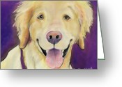 Fushia Painting Greeting Cards - Alex Greeting Card by Pat Saunders-White