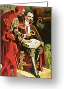 Magic Trick Greeting Cards - Alexander Fredrik Greeting Card by Unknown