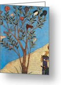 Talking Heads Greeting Cards - Alexander The Great At The Oracular Tree Greeting Card by Photo Researchers