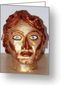Great Sculpture Greeting Cards - Alexander the Great Greeting Card by Valerie Ornstein