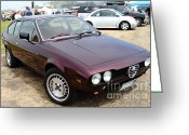 Racecars Greeting Cards - Alfa Romeo 7d15130 Greeting Card by Wingsdomain Art and Photography