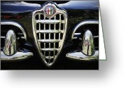Antique Automobile Greeting Cards - Alfa Romeo Greeting Card by Dennis Hedberg