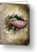 Transportation Mixed Media Greeting Cards - Alfa Romeo Greeting Card by Svetlana Sewell
