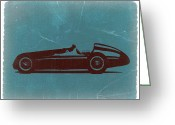 Italian Classic Cars Greeting Cards - Alfa Romeo Tipo 159 Gp Greeting Card by Irina  March
