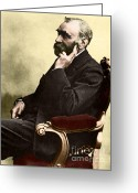 Explosives Greeting Cards - Alfred Nobel, Swedish Chemist Greeting Card by Science Source