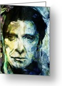 Italian Cinema Greeting Cards - Alfredo James Pacino Greeting Card by Andrea Barbieri