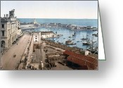 Admiralty Greeting Cards - Algiers - Algeria - Harbor and Admiralty Greeting Card by International  Images