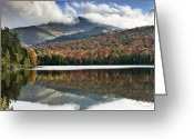 Adirondack Greeting Cards - Algonquin Peak from Heart Lake - Adirondack Park - New York Greeting Card by Brendan Reals