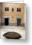 Pillar Greeting Cards - Alhambra inner courtyard Greeting Card by Jane Rix