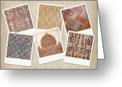 Tile Greeting Cards - Alhambra textures Greeting Card by Jane Rix