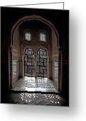 Stone Greeting Cards - Alhambra window Greeting Card by Jane Rix