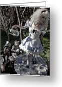Mad Hatter Digital Art Greeting Cards - Alice and Friends 1 Greeting Card by Kelly Jade King
