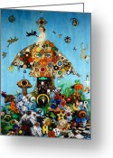 Award Greeting Cards - Alice in BlunderLand Greeting Card by Douglas Fromm