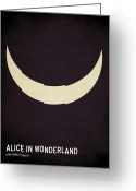 Minimal Greeting Cards - Alice in Wonderland Greeting Card by Christian Jackson