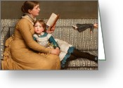 Striped Greeting Cards - Alice in Wonderland Greeting Card by George Dunlop Leslie